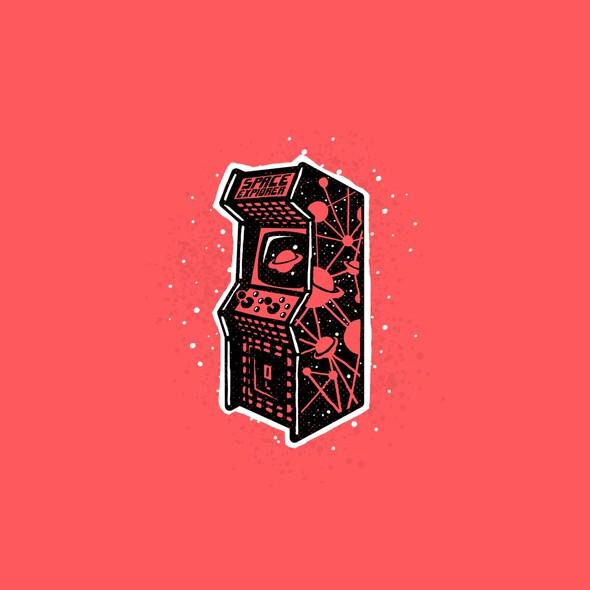 Nostalgic logo with the title 'Arcade nostalgia'