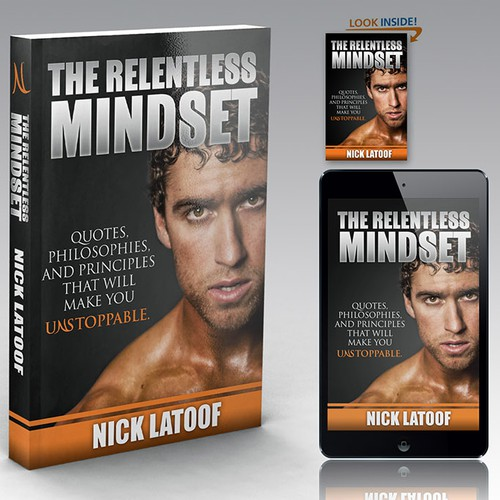 Man design with the title 'The relentless mindset'