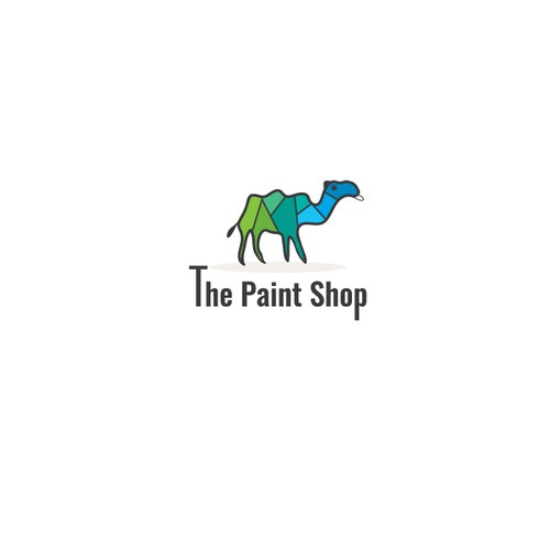 Camel logo with the title 'Elegant Paint Company Logo'