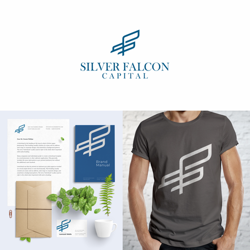 Falcon design with the title 'Modern Minimal Logo'