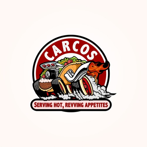 Hot rod design with the title 'CARCOS!'