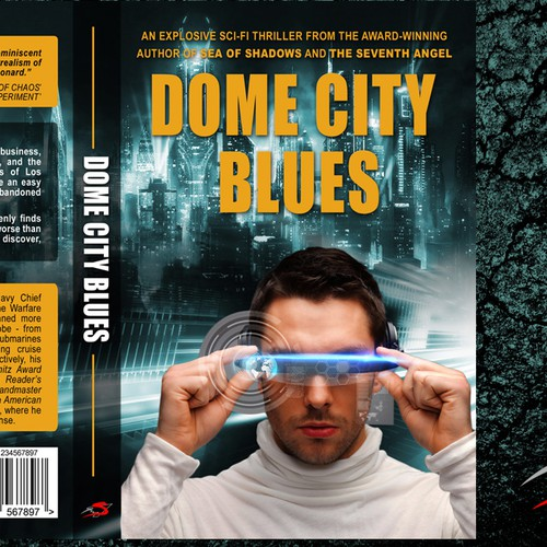 Fantastic design with the title 'Create a kick-ass cover for an action-packed science fiction/cyberpunk detective novel'