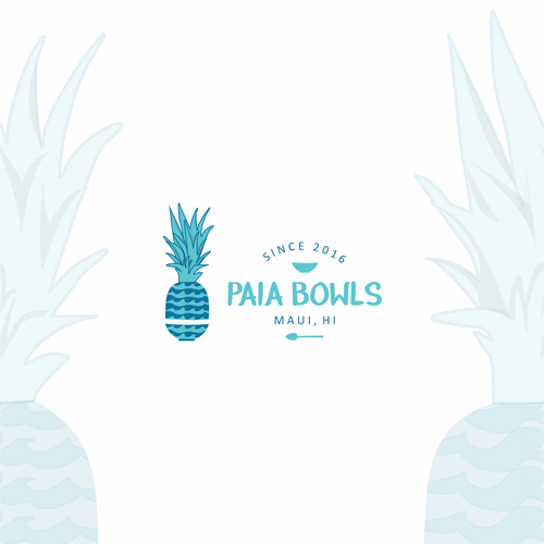 Aloha logo with the title 'Hawaiian flavor logo'