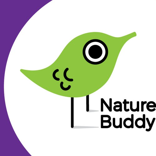 Wildlife logo with the title 'Logo for Nature's Buddy company'
