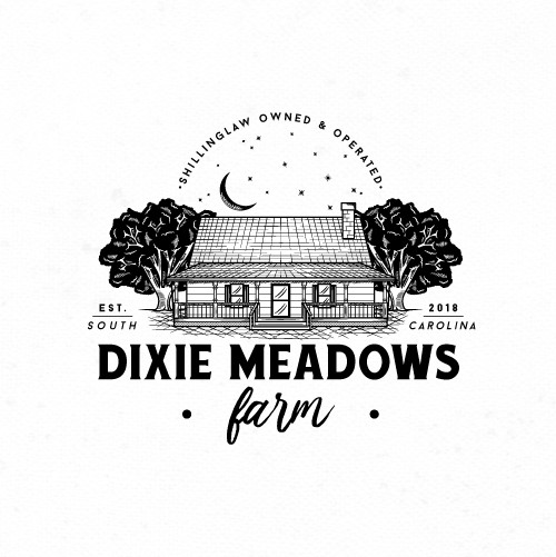 Carolina logo with the title 'Dixie Meadows Farm Logo'