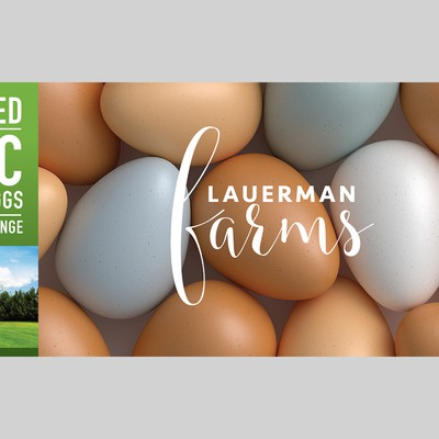 Packaging design for pasture raised eggs.