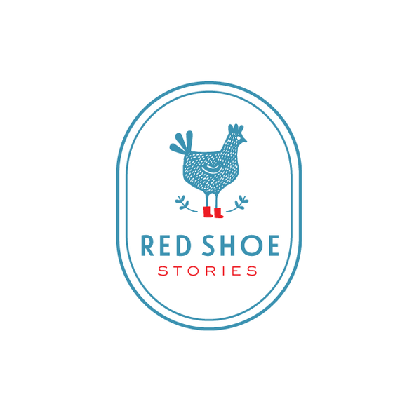 Hen logo with the title 'Creative Logo for Children's Book Company'