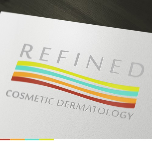 Skincare logo with the title 'Refined Cosmetic Dermatology Logo Design '