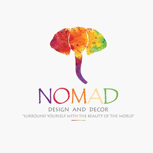 Nomad logo with the title 'Nomad Design and Decor (Surround yourself with the beauty of the world)'