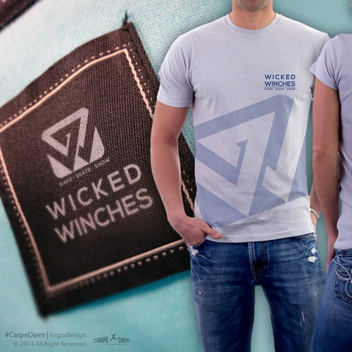 Skate logo with the title 'Wicked Winches logo '