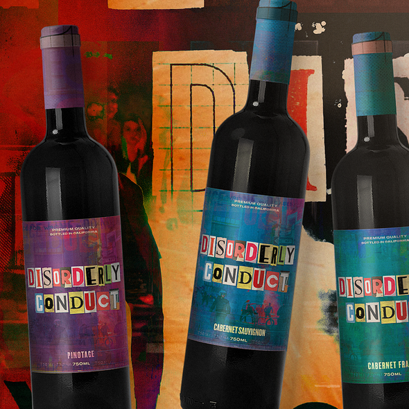 Colorful label with the title 'Disorderly Conduct'