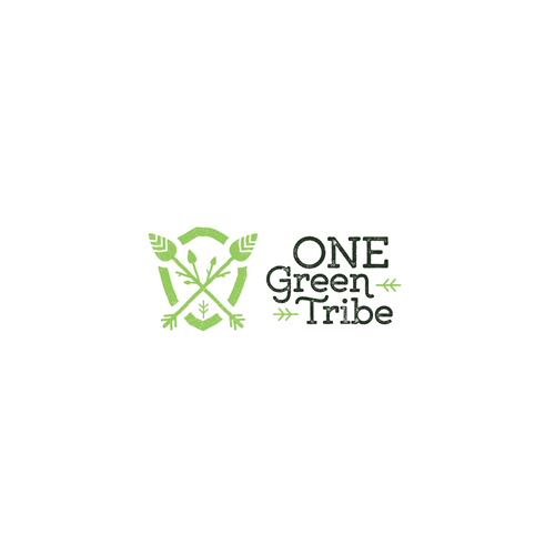 Shield design with the title 'One Green Tribe'