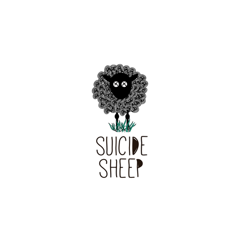 Sheep logo with the title 'fun logo for an indie band'