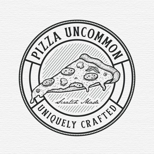 Crafted design with the title 'Pizza Uncommon'