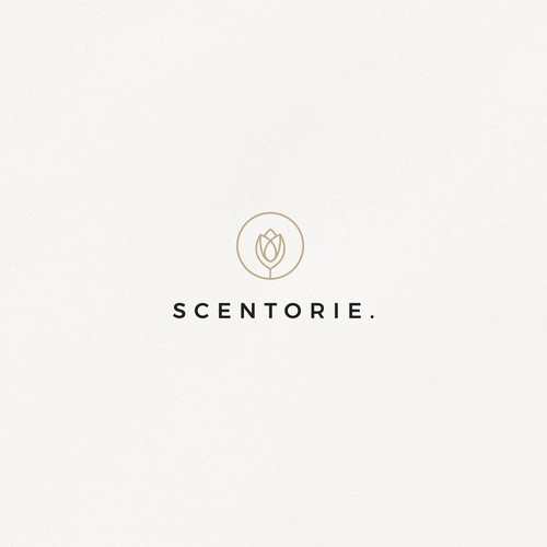 Candle logo with the title 'Scentorie.'