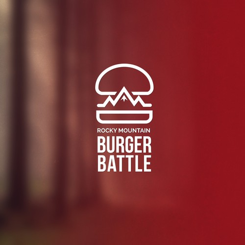 Hill design with the title 'Help Rocky Mountain Burger Battle with a new logo'