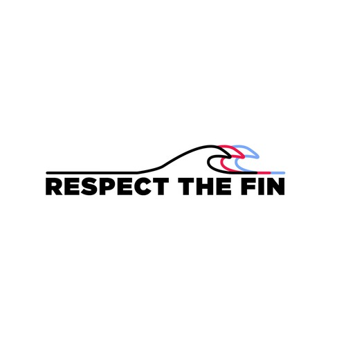 Wave t-shirt with the title 'Respect The Fin'