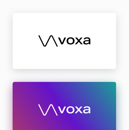Corporate design logo with the title 'voxa - Logo'