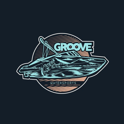 Sports artwork with the title 'Groove Boat'