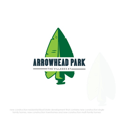 Arrowhead logo with the title 'Logo design for Real Estate Park'