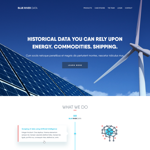 Data website with the title 'blueriver-data.com'