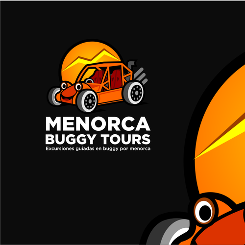 Car design with the title 'Fun Illustration concept for Buggy Tours'