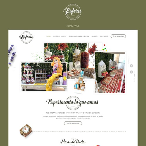 Drink website with the title 'Event organizer Web Site'