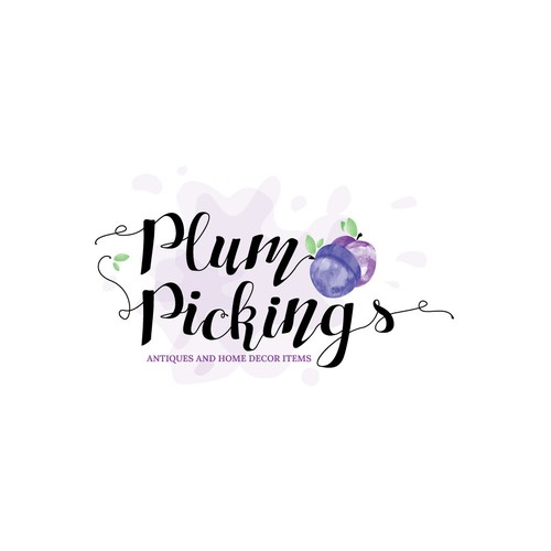 Plum design with the title 'Logo for antiques and home decor items'