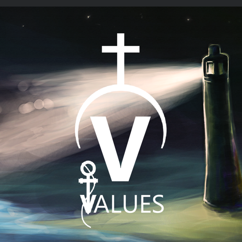 Value design with the title 'Five Core Values'