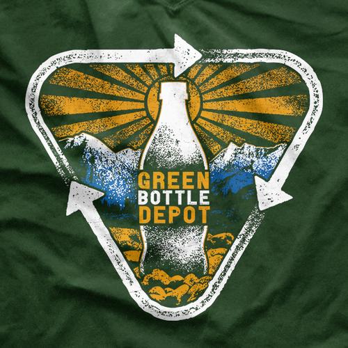 Sun t-shirt with the title 'Environmentalist Green Bottle Depot T-shirt'