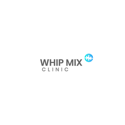 Heartbeat logo with the title 'Logo Design for Whip Mix Clinic'