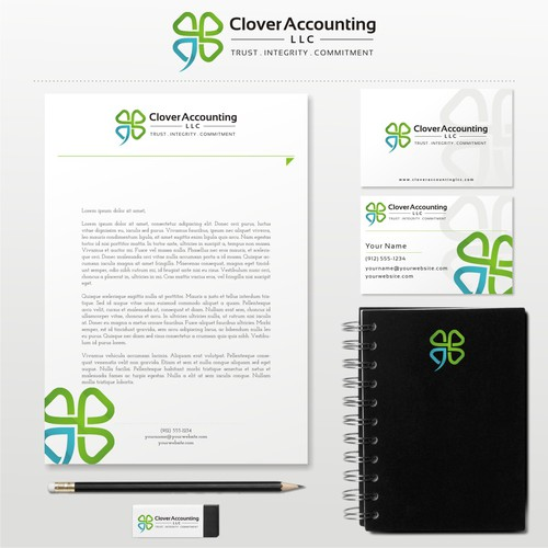 Clover design with the title 'Clover Accounting, LLC'