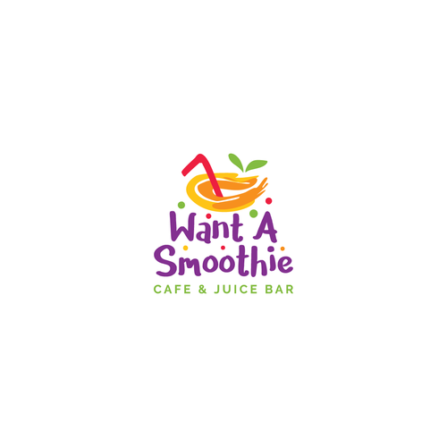 Smoothie design with the title 'Logo for cafe & juice bar'