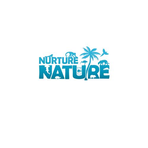 Wildlife logo with the title 'Nurture Nature'