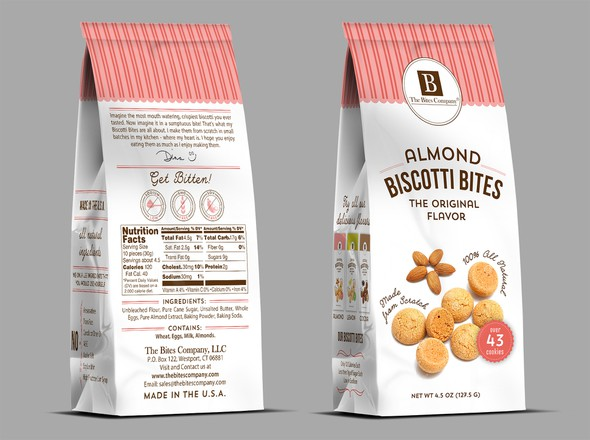 Biscuit design with the title 'Create new packaging that is both fun and sophisticated.'