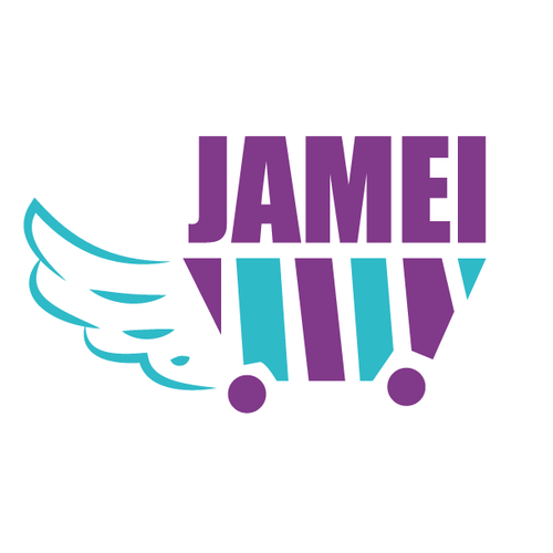 Violet design with the title 'JAMEI'