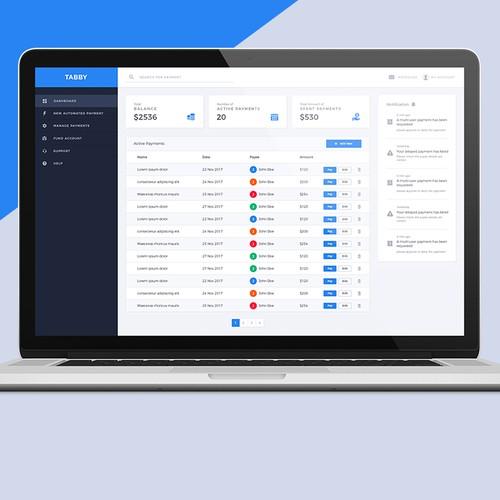 Wallet design with the title 'Payment desktop app design '