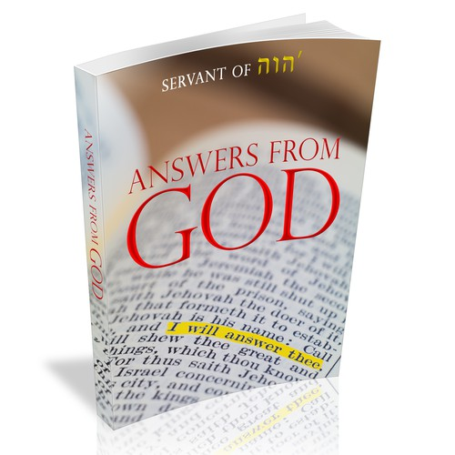 Bible book cover with the title 'Book cover that powerfully illustrates obtaining answers from God.'