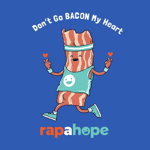 Sports design with the title 'Don't Go BACON My Heart'