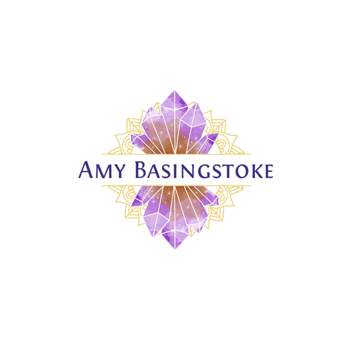 Mandala logo with the title 'Amy Basingstoke Logo'
