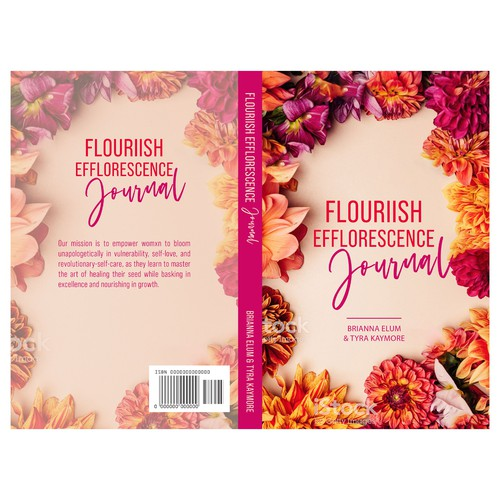 Flower book cover with the title 'Flouriish Efflorescence Journal'