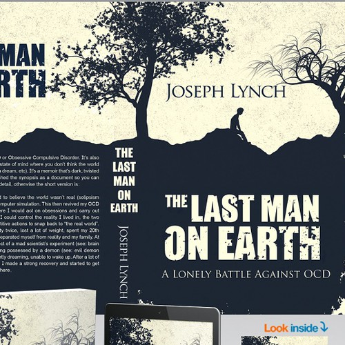 Silhouette design with the title 'The last man on earth'