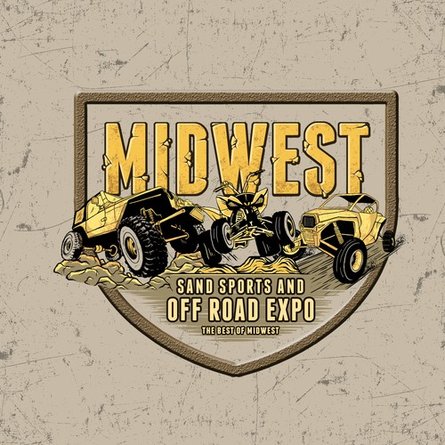 Dirt design with the title 'MIDWEST'
