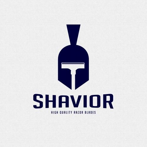 Trojan logo with the title 'Shavior (Winning Design)'