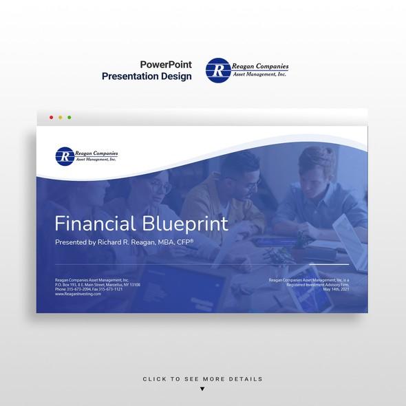 Management design with the title 'Financial Planning Presentation Design'