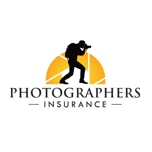 Shutter logo with the title 'Logo Design for Photographers Insurance Website'