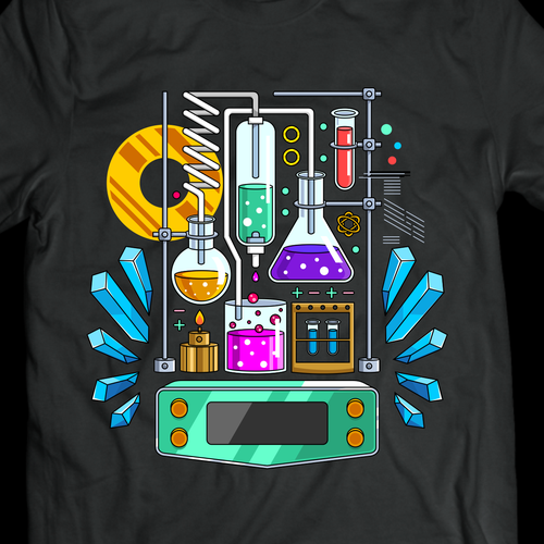 School design with the title 'Science T-shirt Design'