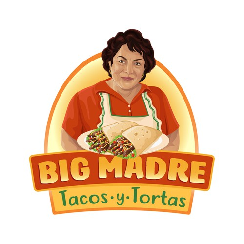 Taco logo with the title 'Logo design for Taco restaurant'