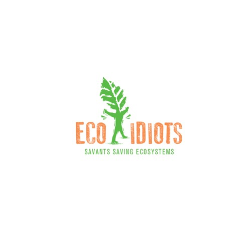 Sustainable design with the title 'Eco Idiots Sustainable Logo'