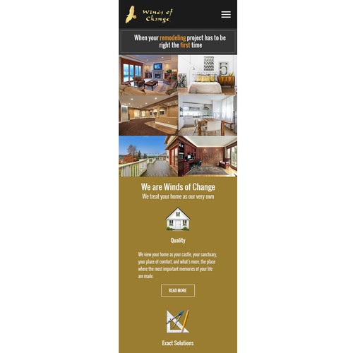Remodeling design with the title 'Home Remodeling Website'